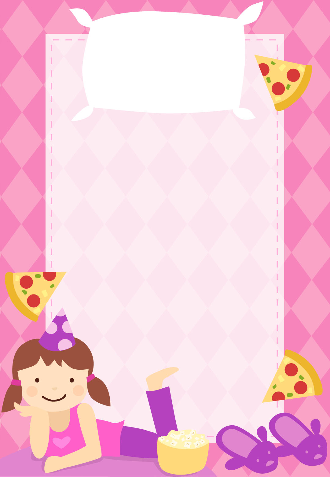 Slumber Party Invitation IdeasKitty Baby Love