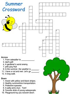 Cool Printable Summer Crossword Puzzles For All