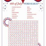 Word Search for The 4th Of July