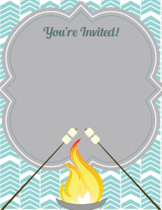 6 sizzling bonfire party invitations kitty baby love