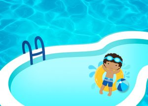 Boy Pool Party Invitations