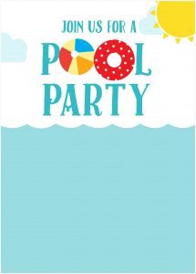 Custom Pool Party Invitations