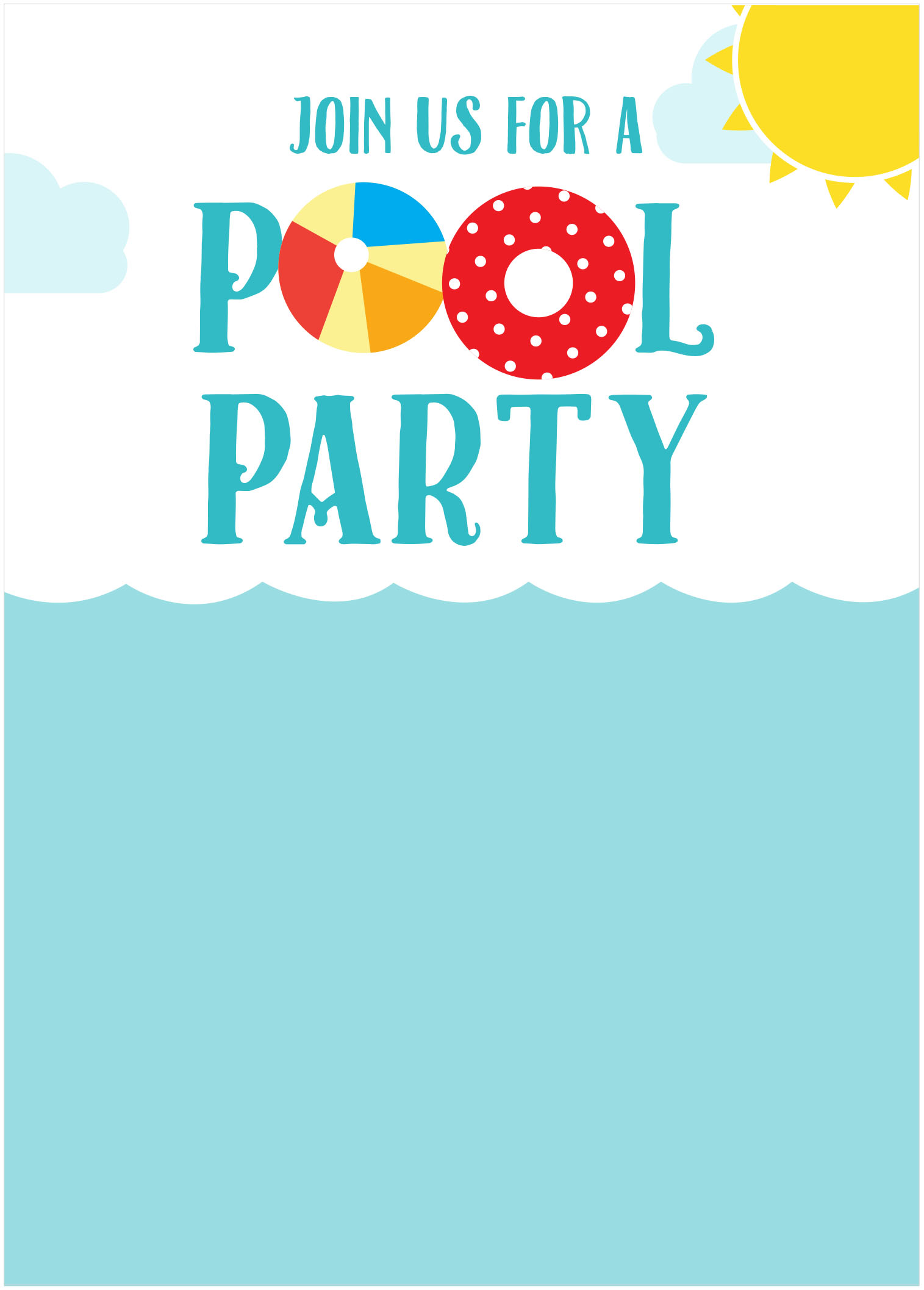 45 Pool Party Invitations – Invitation Pool Party