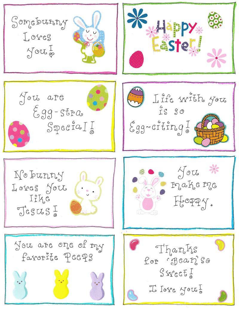 15 printable easter gift tags kitty baby love cute easter gift tags negle Image collections