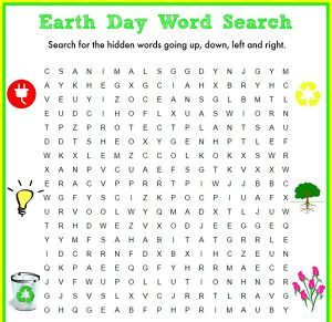 Earth Day Word Search Hard