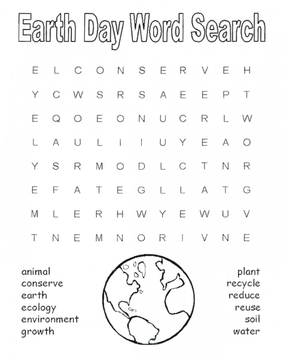 20 Earth Day Word Searches