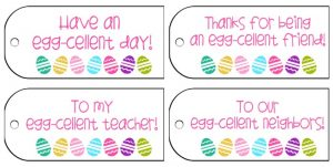 Easter Gift Tags For Students