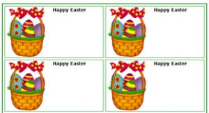Easter Gift Tags Printable