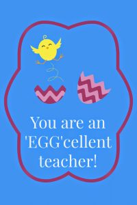 Easter Gift Tags for Teachers