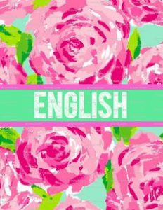 English Binder Cover Ideas