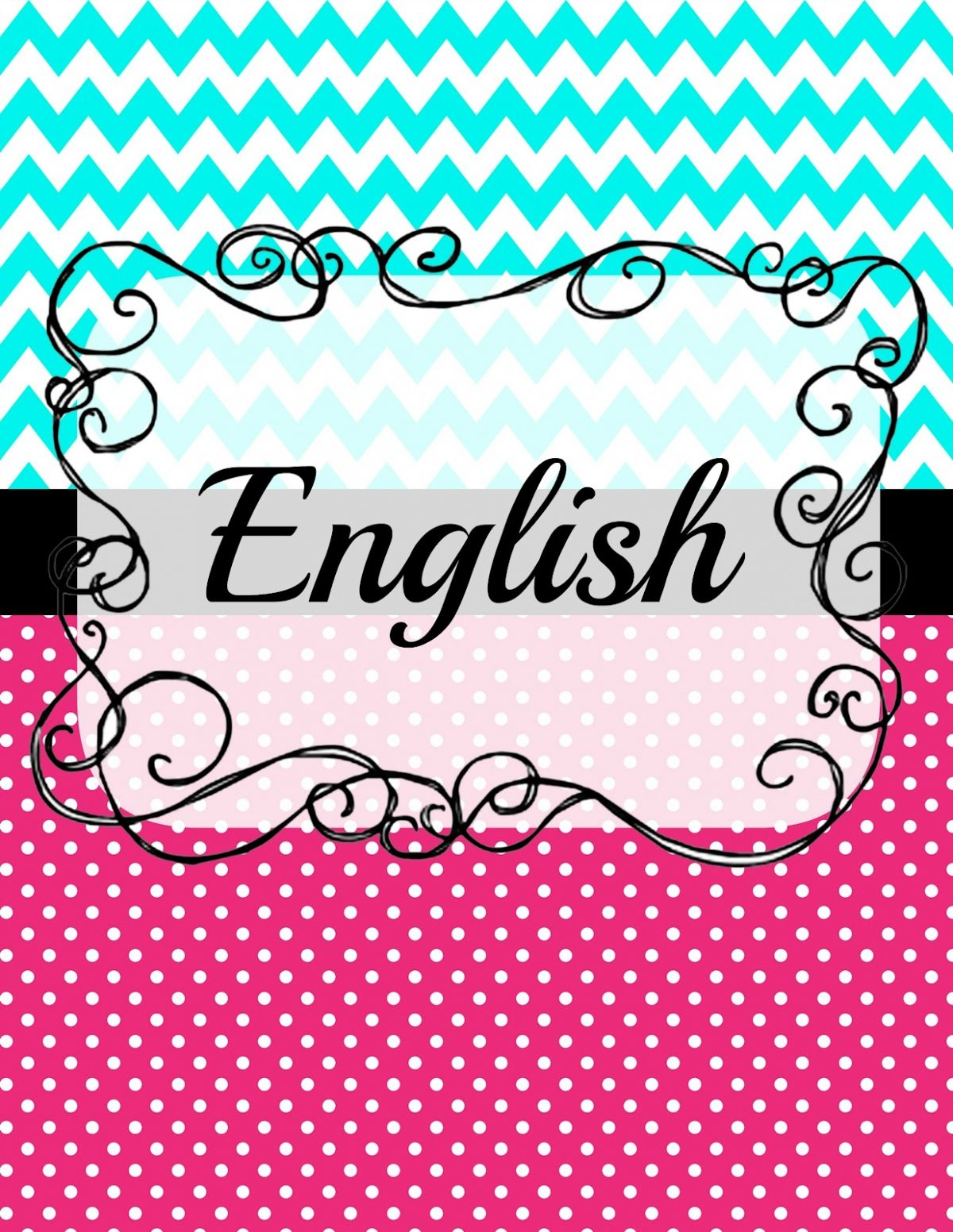 5 Pristine English Binder Cover