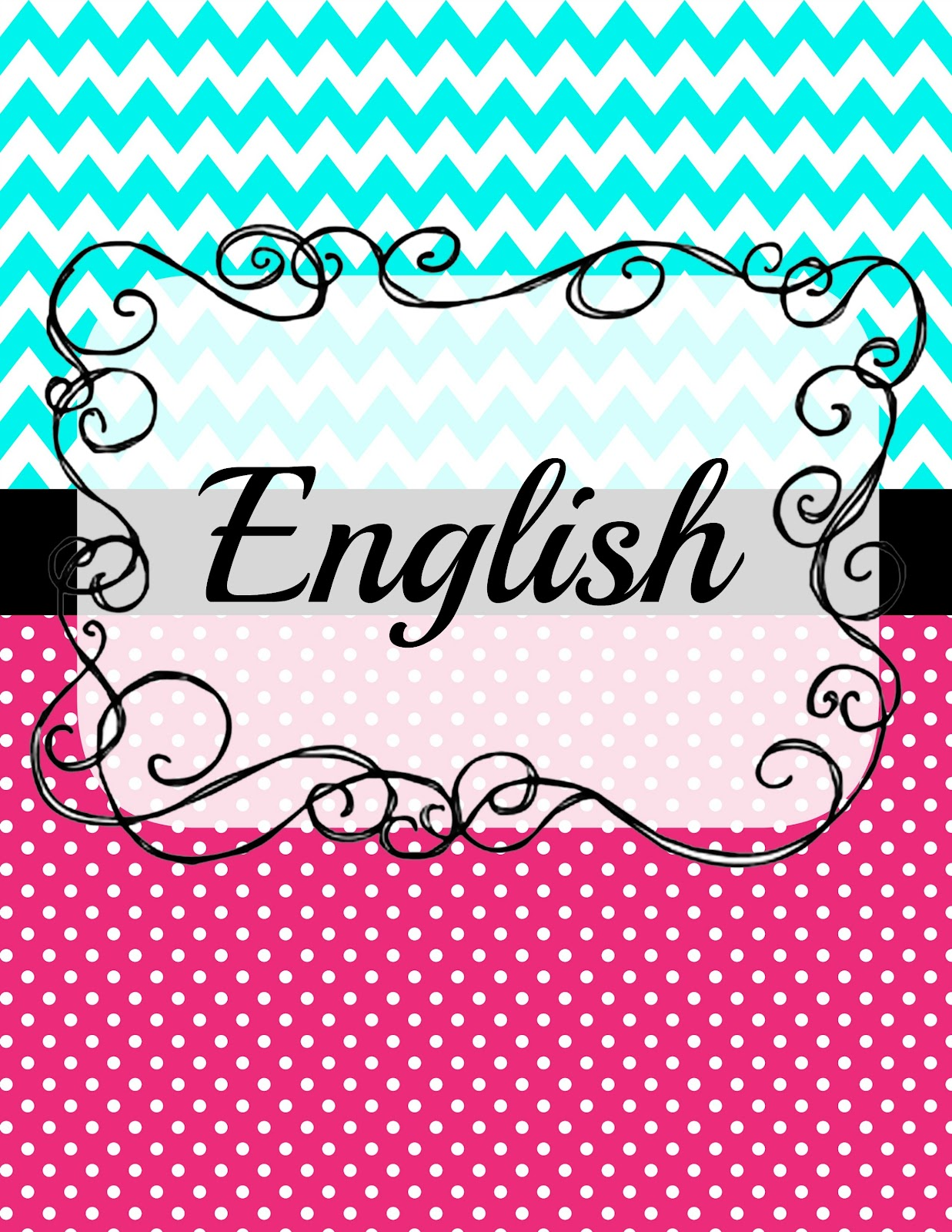 Book Cover Ideas For English ~ Pristine english binder cover kitty baby love