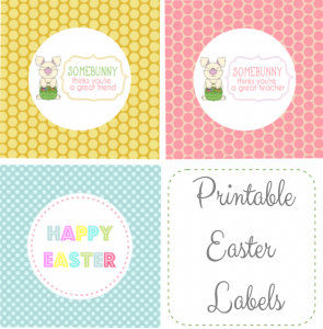 Free Easter Basket Gift Tags