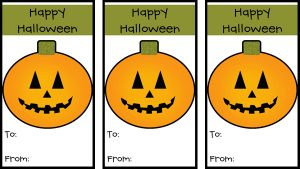 Free Printable Halloween Tags for Gift Bags