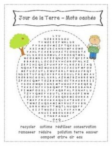 French Earth Day Word Search