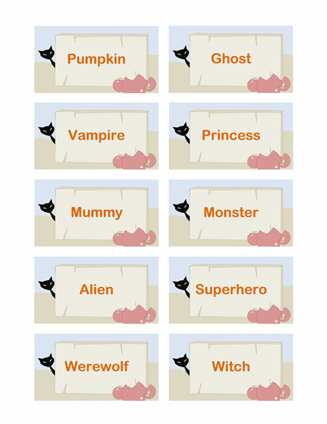 10 of the best halloween gift tags for you kitty baby love. Black Bedroom Furniture Sets. Home Design Ideas