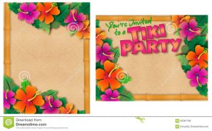Hawaiian Pool Party Invitations