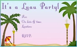 Luau Pool Party Invitations