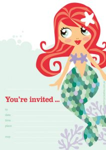 Mermaid Pool Party Invitations