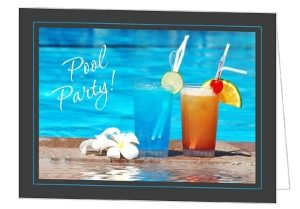 Photo Pool Party Invitations