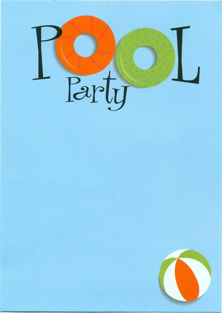 45 Pool Party Invitations