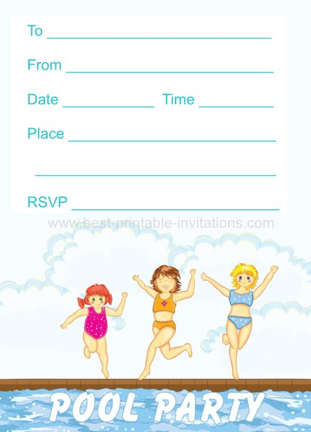 45 Pool Party Invitations – Pool Party Invitations for Girls