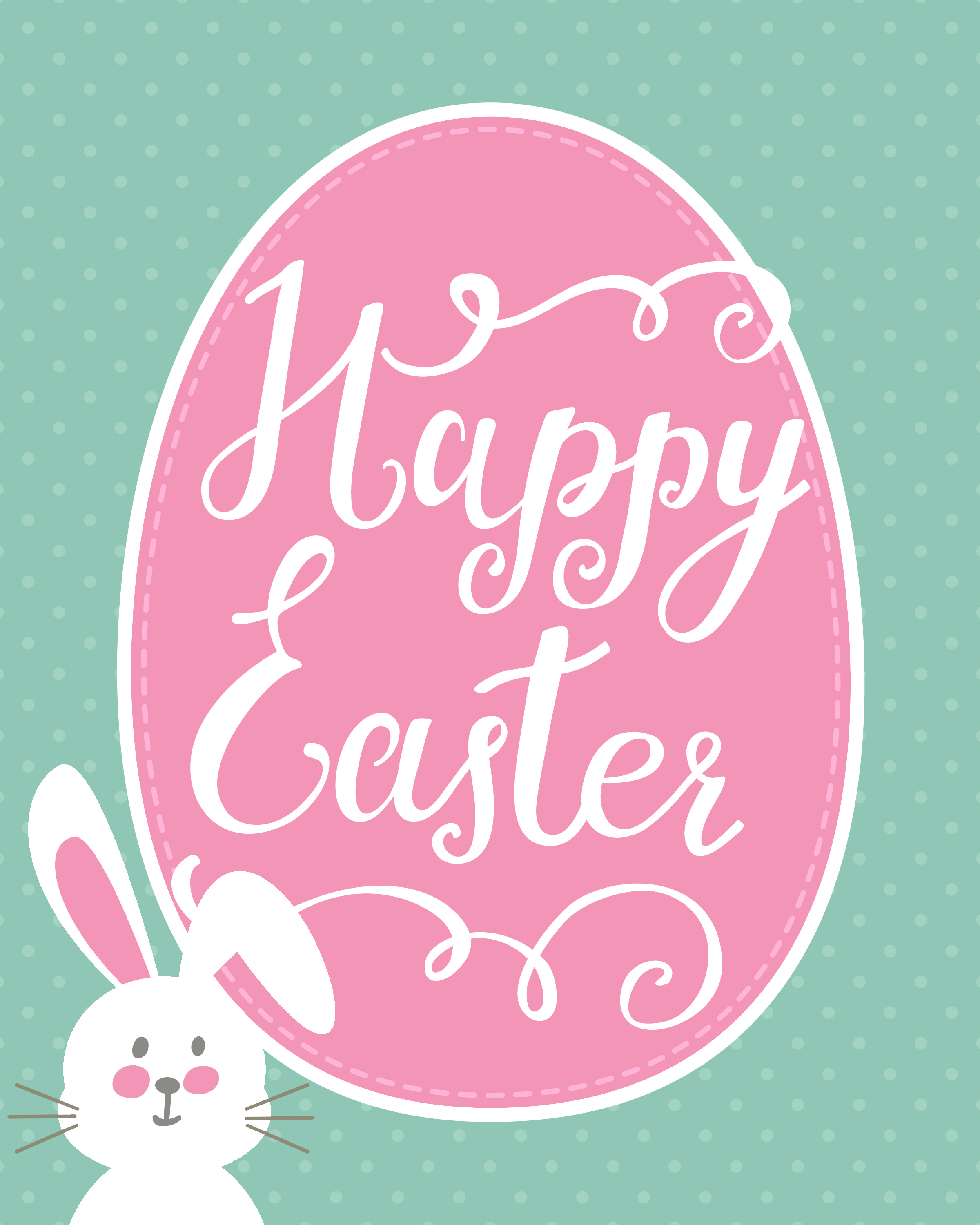 This is an image of Comprehensive Printable Easter Tag