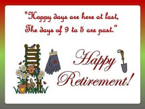 Retirement Message Card