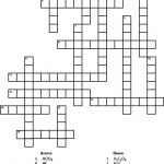 Solutions Crossword Chemistry Puzzle