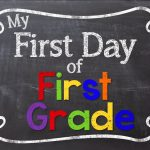 1st Day of School Sign Printable