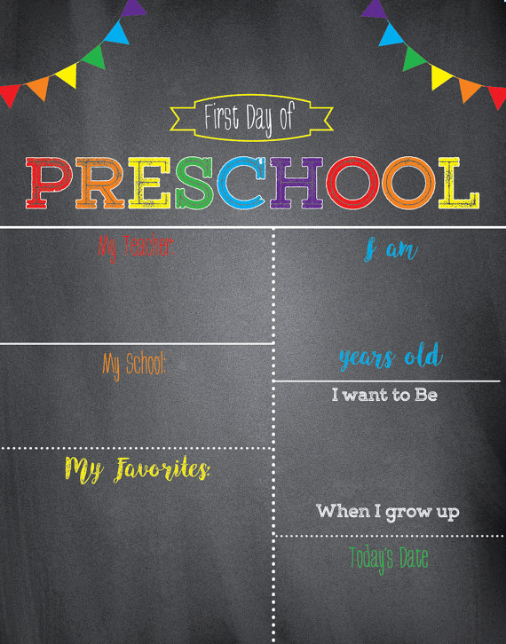 first day of school sign template - 24 colorful first day of school signs kitty baby love