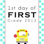 First Day of School Signs Elementary School