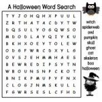 Free Halloween Word Search Puzzle