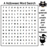 Bright image inside halloween word search printable