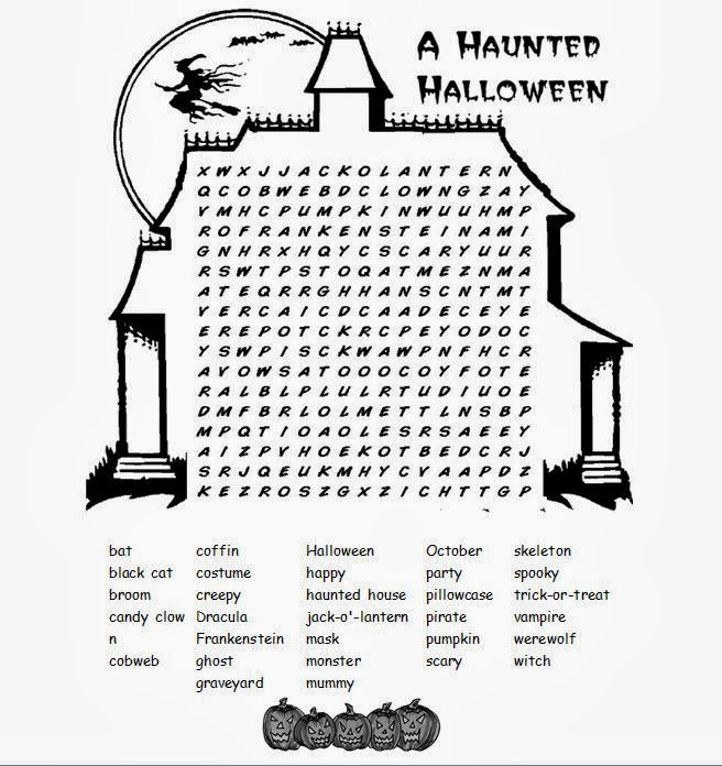 Stupendous image pertaining to halloween word searches printable