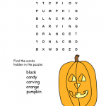Halloween Word Search Kids