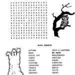 Halloween Word Search Puzzles Printable