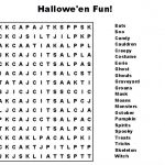 Happy Halloween Word Search