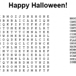 Hard Halloween Word Search Printable