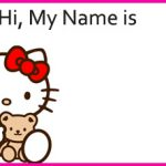 Hello Kitty Thank You Gift Tags