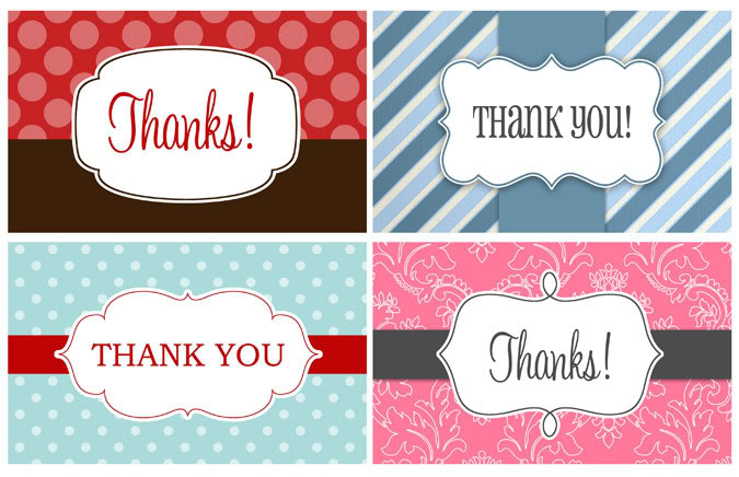 image relating to Thank You Gift Tags Printable called 14 Printable Thank Your self Reward Tags