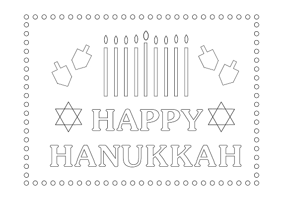 photo relating to Printable Hanukkah Card called 18 Joyous Hanukkah Playing cards