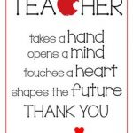 Thank You Teacher Gift Tags Printable