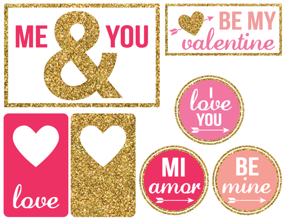 graphic relating to Valentine Gift Tags Printable named 6 Magnificent Printable Valentine Reward Tags