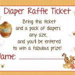Winnie the Pooh Baby Shower Invitations Diaper Raffle