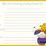 Winnie the Pooh Baby Shower Invitations Free Printable