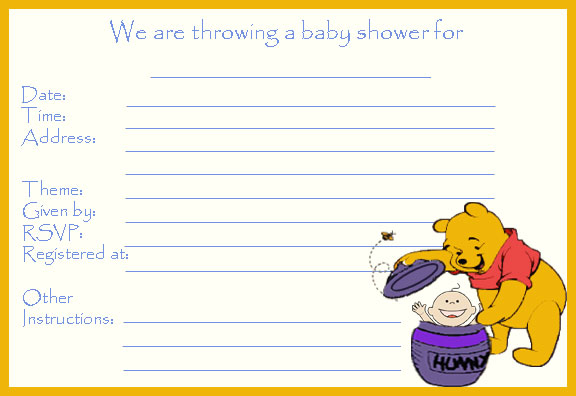 14 heart-warming winnie the pooh baby shower invitations | kitty, Wedding invitations