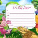Winnie the Pooh Girl Baby Shower Invitations