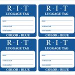 Airline Luggage Tag Template