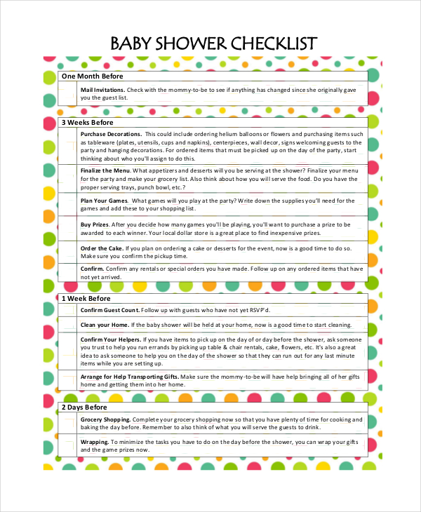 Planning A Baby Shower For A Girl Checklist ~ Kitty baby love